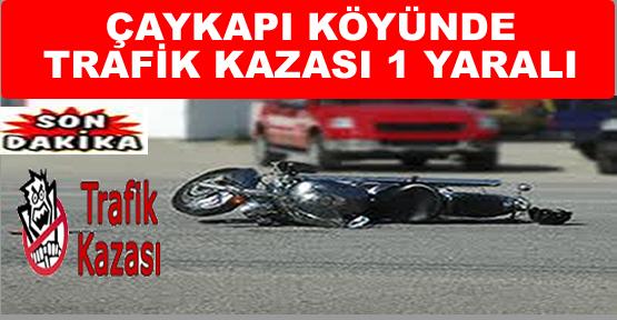 Çaykapı Köyünde Trafik kazası