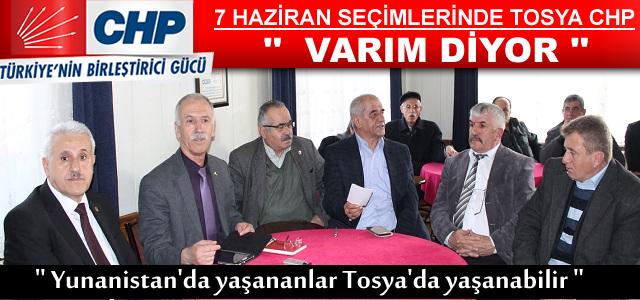 CHP İL TEŞKİLATI TOSYA'YI ZİYARET ETTİ
