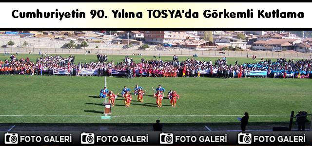 Cumhuriyetin 90. Yılına Tosya'da Görkemli Kutlama