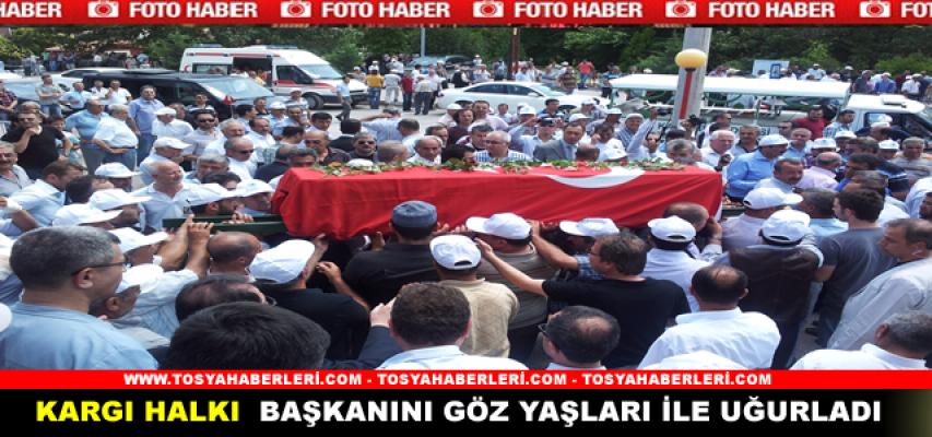 KARGI BELEDİYE BAŞKANI AKPINAR'IN CENAZESİ TOPRAĞA VERİLDİ.