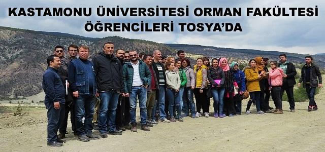 KASTAMONU ÜNİVERSİTESİ ORMAN FAKÜLTESİ ÖĞRENCİLERİ TOSYA'DA