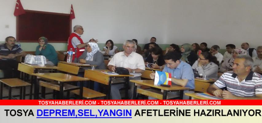 Kastamonu'nun Tosya İlçesinde ''Afet Zararlarını Azaltma'' semineri verildi.