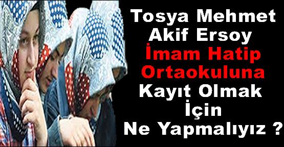 Mehmet Akif Ersoy İmam Hatip Ortaokuluna Kayıtlar Başladı
