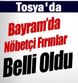 Tosya'da Kurban Bayramı'nda nöbetçi olacak fırınlar açıklandı