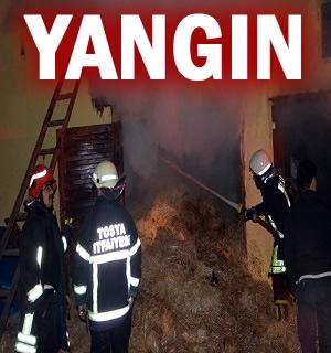 Tosya'da Korkutan Samanlık Yangını