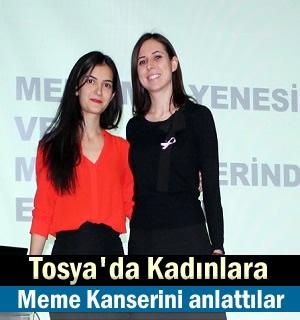 Tosya'lı Kadınlara Meme Kanseri hakkında bilgi verildi
