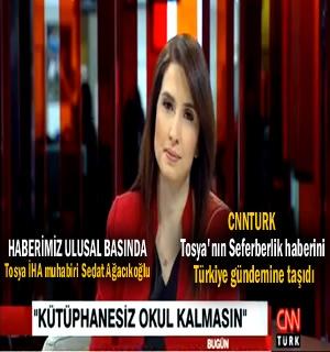 Tosya'nın Seferberlik Haberi CNNTURK ana haber bülteninde