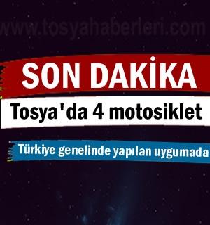 Tosya'da 4 adet Motosiklet Trafikden Men edildi.
