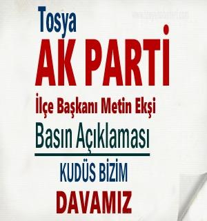 Ak Parti İlçe Başkanı Metin Ekşi'nin Basın Açıklaması