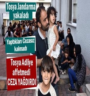 Tosya'da Mülteci kaçakçılığı yapan 2 kişiye Ceza yağdı