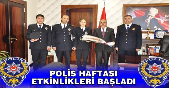 POLİS HAFTASI ETKİNLİKLERİ BAŞLADI