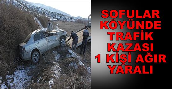 Sofular Köyünde Trafik Kazası