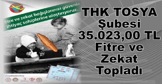 THK TOSYA Şubesi 35.023,00 TL Fitre ve Zekat Topladı