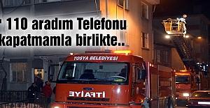 CUMHURİYET MAHALLESİNDE YANGIN