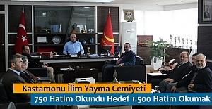 Hedef 18 Mart Tarihine Kadar 1.500 Hatim Okumak