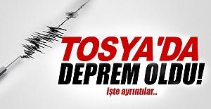 TOSYA#039;DA DEPREM MEYDANA GELDİ