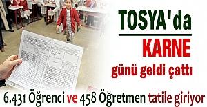 Tosya' da 6500 Öğrenci Karne Alacak