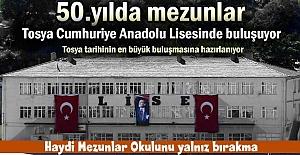TOSYA LİSESİ 50. KURULUŞ YILDÖNÜMÜNÜ...