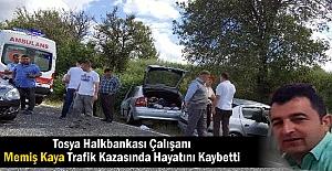 MEMİŞ KAYA TRAFİK KAZASINDA HAYATINI...