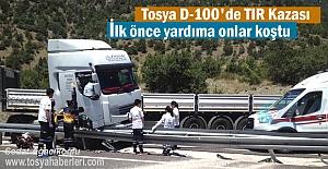 Tosya D-100 Karayolunda Tır Kazası