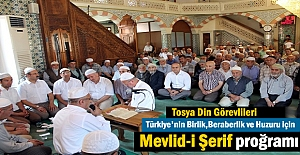 Tosya Din Görevlileri Ülkenin Huzuru için Mevlid-i Şerif Prog