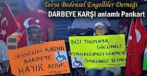 Tosya Engelliler Derneği ''Demokrasi Nöbetinde''