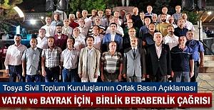 Tosya STK'lar Darbeye Karşı Basın Bildirii Yayınladı