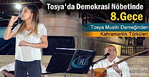 Tosya'da darbe girişimine tepkiler 8. gününde devam etti.