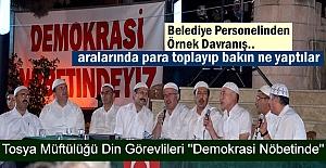 Tosya'daki Demokrasi Nöbetinde Mevlid-i Şerif Okunup Pilav Dağıtıldı