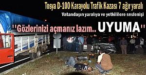 Tosya - Akçakavak Kavşağında Trafik Kazası