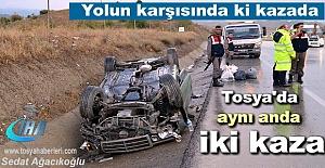 Tosya D-100'de filimleri aratmayan Trafik Kazası