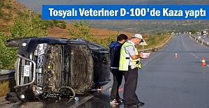 Tosya'lı Veteriner D-100 karayolunda Trafik Kazası geçirdi