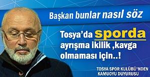 TOSYA SPOR KULÜBÜ'NDEN...