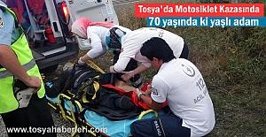 Tosya'da Motosiklet Kazasında 1 kişi yaralandı