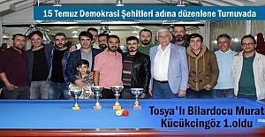 15 Temmuz Demokrasi Şehitleri anısına Tosya'da Bilardo Turnuvası Düzenlendi
