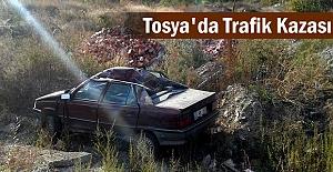 Tosya'da Trafik Kazasında 2 kişi yaralandı