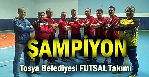Tosya Futsal turnuvasında Tosya Belediyespor şampiyon oldu