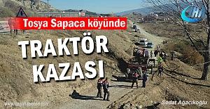 Tosya Sapaca Köyünde Traktör Kazasında 1 kişi hayatını kaybetti