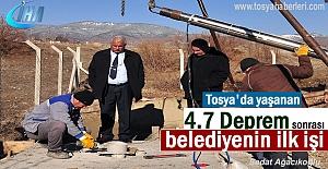 Deprem sonrası Belediyenin ilk icraatı