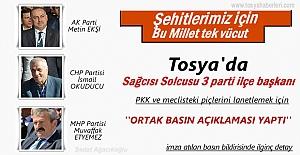 SİYASİ PARTİ TOSYA İLÇE BAŞKANLARININ ORTAK BASIN BİLDİRİSİ