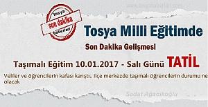 Tosya#039;da 10.01.2017 Salı günü...