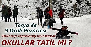Tosya#039;da 9 Ocak Pazartesi Okullar...