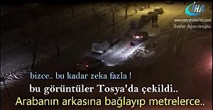 Tosya'da gece yarısı yaşanan Şok görüntüler