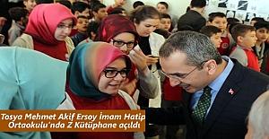 Tosya Mehmet Akif Ersoy İmam Hatip Ortaokulu'nda Z Kütüphane açıldı