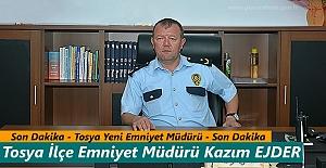 Tosya#039;ya Yeni İlçe Emniyet Müdürü...