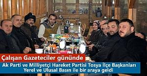 Tosyada ki siyasi parti temsilcileri 10 Ocak Çalışan Gazeteciler Gününü kutladı
