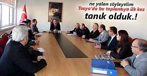 Tosya'da Uyuşturucu Madde ve Bağımlılığı ile Mücadele İlçe Koordinasyon Kurulu toplantısı yapıldı