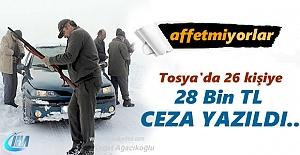 Tosya#039;da 26 kişiye ceza yağdı