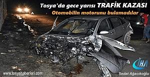 TOSYA#039;DA GECE YARISI TRAFİK KAZASI...