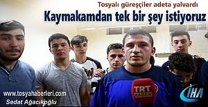 Tosya'da Güreşçiler Kaymakamdan tek bir şey istediler